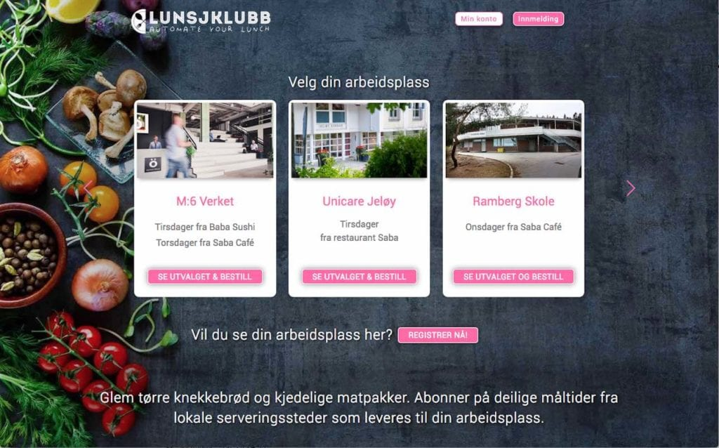 Lunsjklubb - Automate your lunch